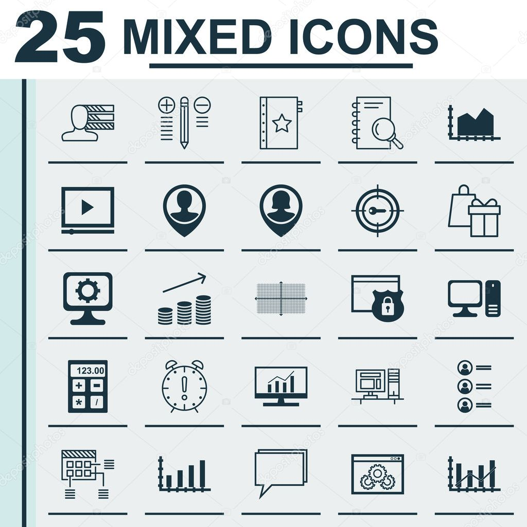 set of 25 universal icons on personal skills raise diagram video set of 25 universal icons on personal skills raise diagram video player and more