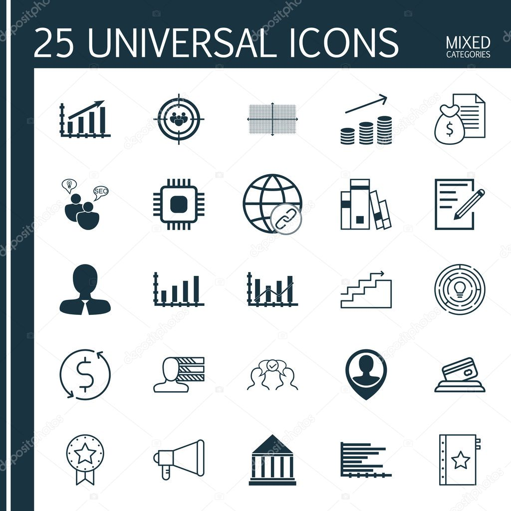 set of 25 universal icons on personal skills growth raise set of 25 universal icons on personal skills growth raise diagram and more topics