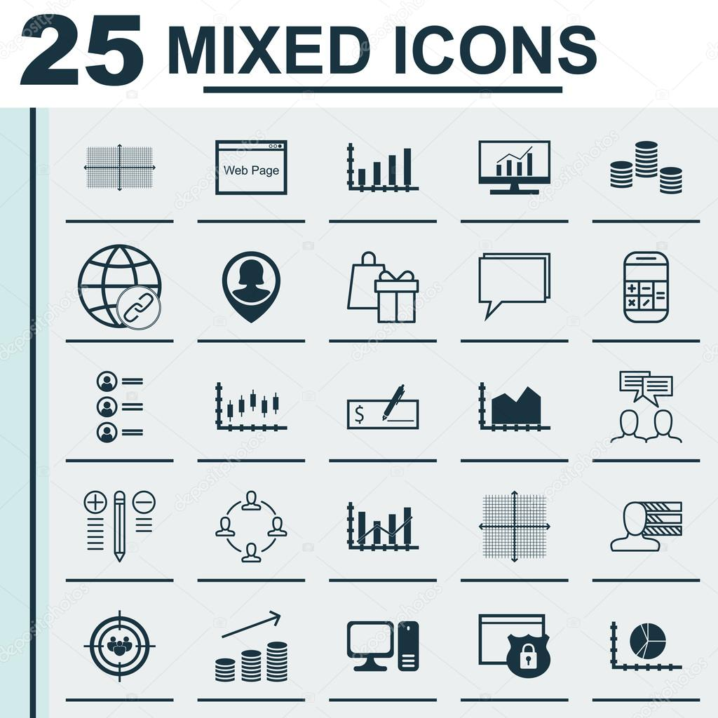 set of 25 universal icons on sequence graphics collaboration pin pin employee and more topics vector icon set including coins growth square diagram personal skills and other icons vector by aalbedouin gmail com
