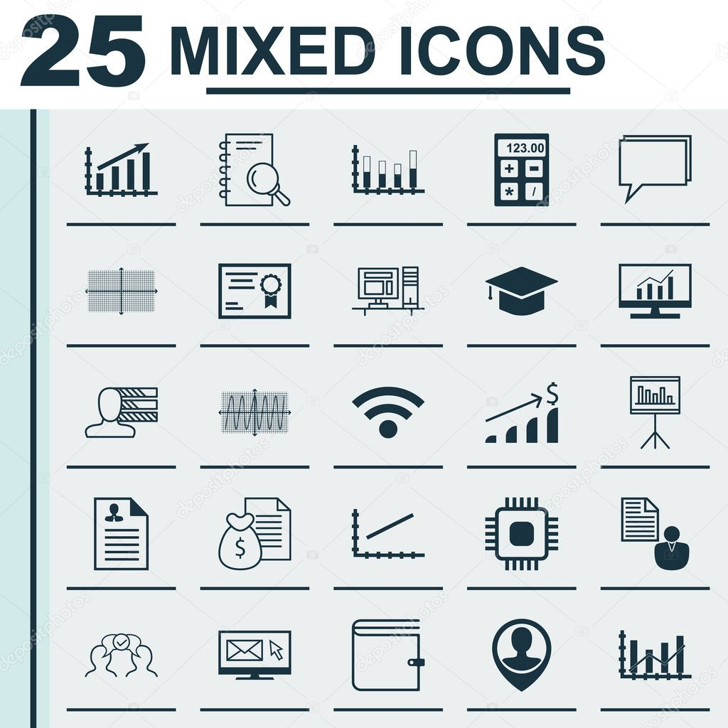 set of 25 universal icons on personal skills cooperation chip set of 25 universal icons on personal skills cooperation chip and more topics