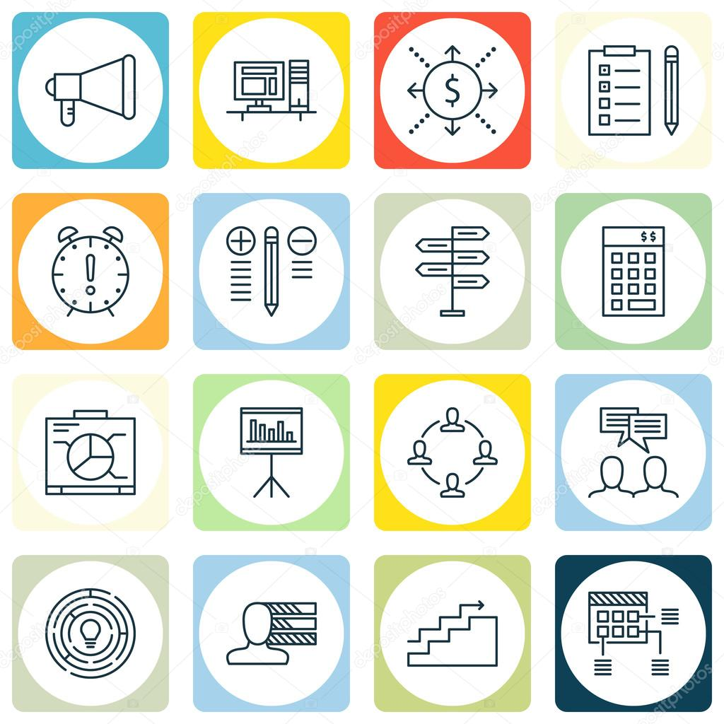 set of project management icons on innovation personal skills and set of project management icons on innovation personal skills and money topics editable vector