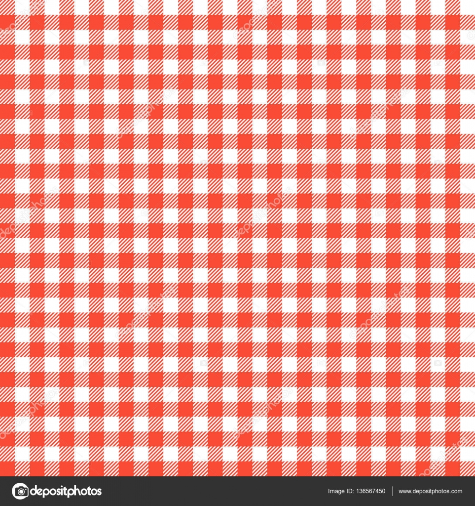 Red Checkered Tablecloths Patterns Stock Vector 169 Art