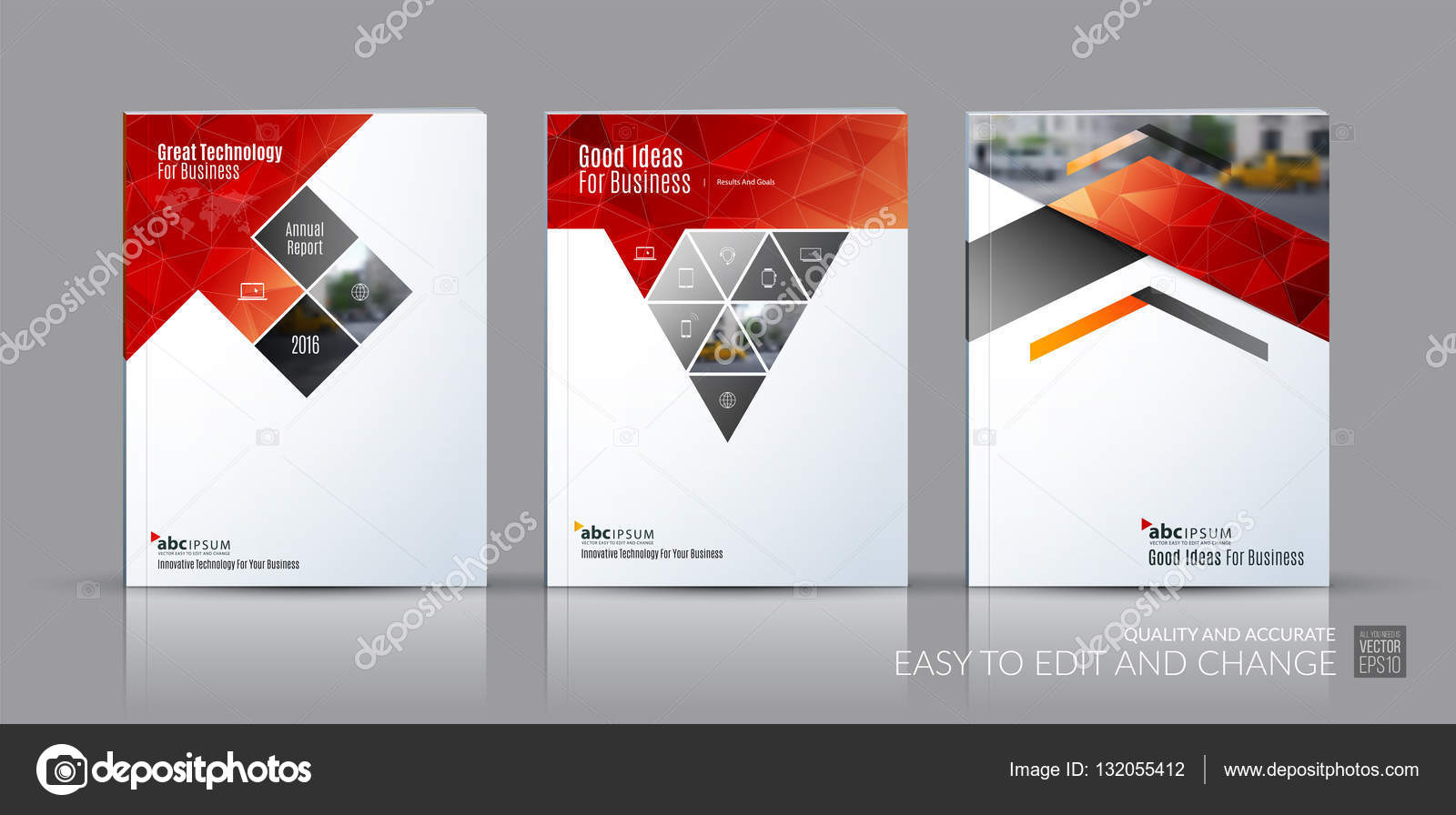 business vector set brochure template layout cover design annu brochure template layout cover design annual report magazine flyer in a4 rectangles triangles diagonal house window arrow for real estate