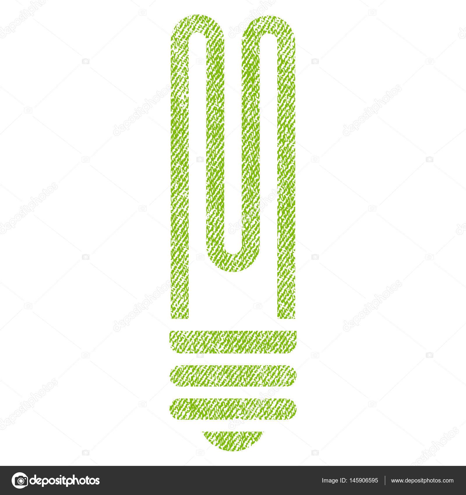 荧光灯泡矢量叠加水印邮票质感的图标.亮绿色的布料矢量纹理.图片
