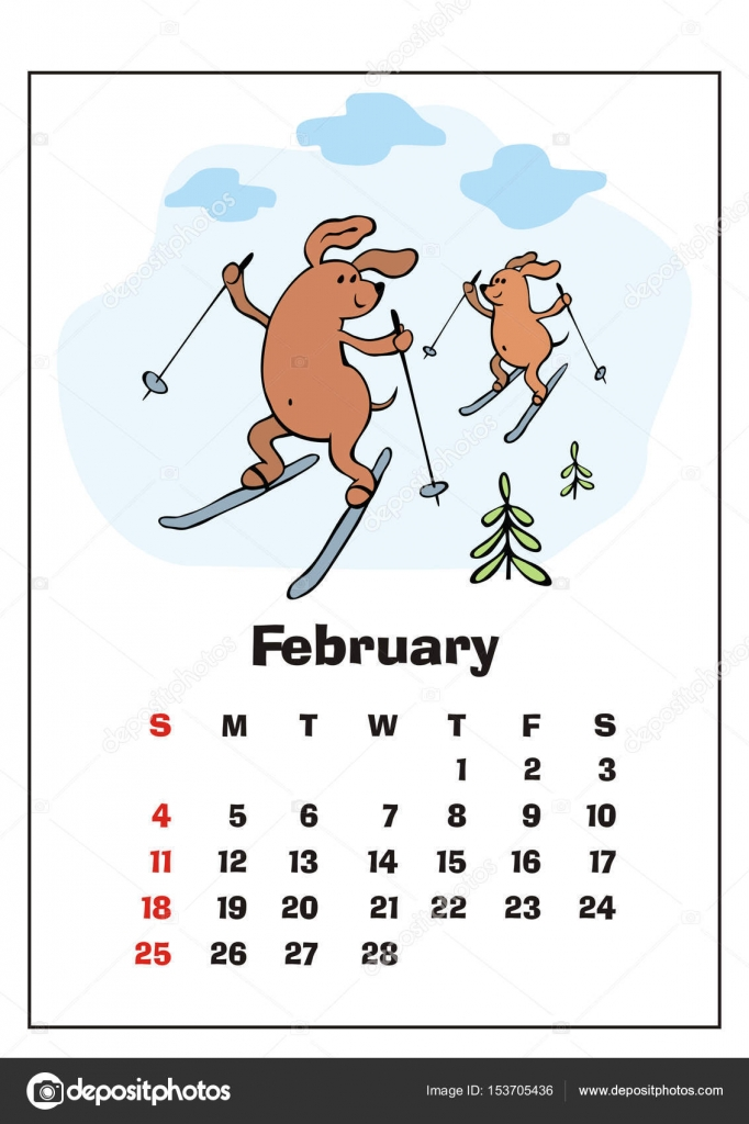 February 2018 calendar — Stock Vector © belova8516.yandex.ru ...