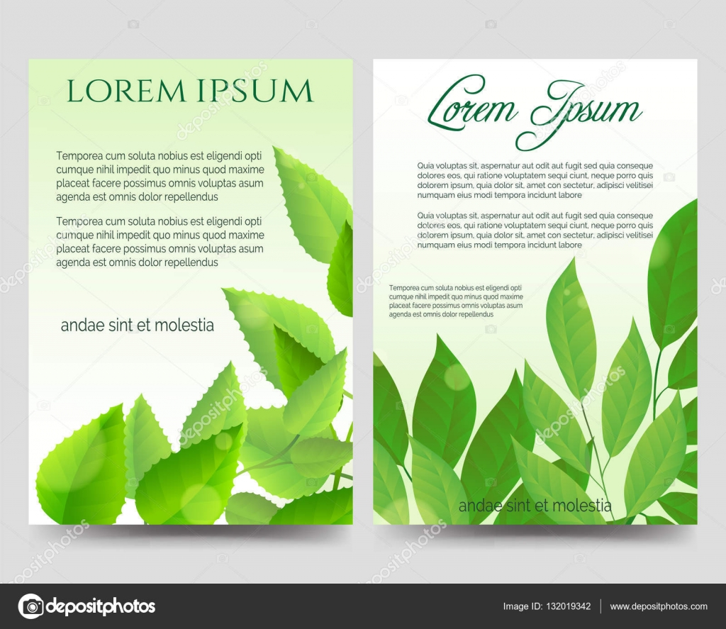 spring flyers template green leaves stock vector spring flyers template green leaves stock vector 132019342
