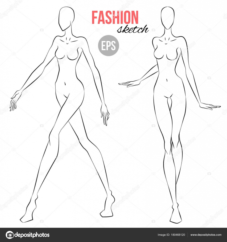 Fashion illustration body templates 27