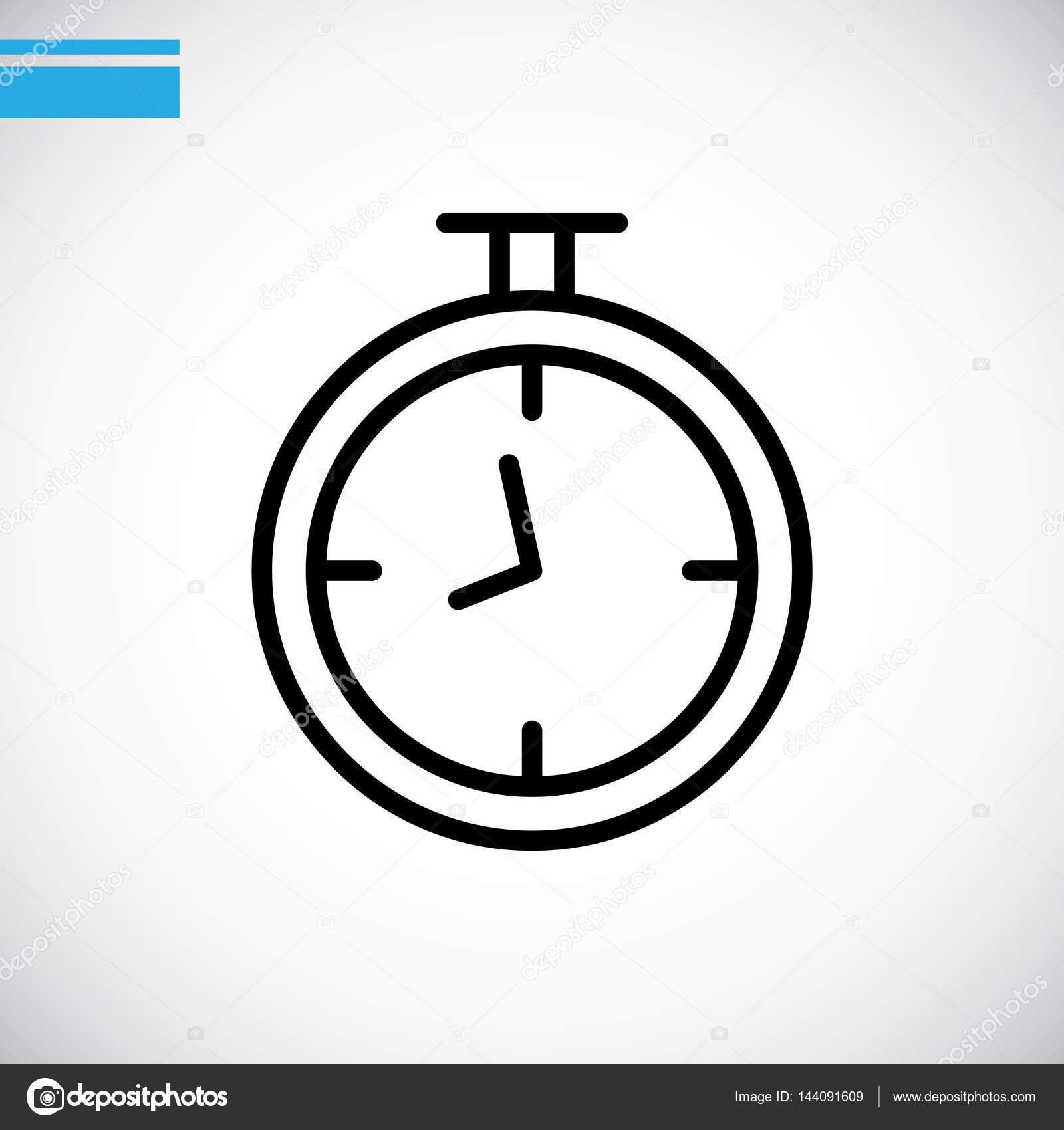 矢量图的定时器时钟图标– 图库插图
