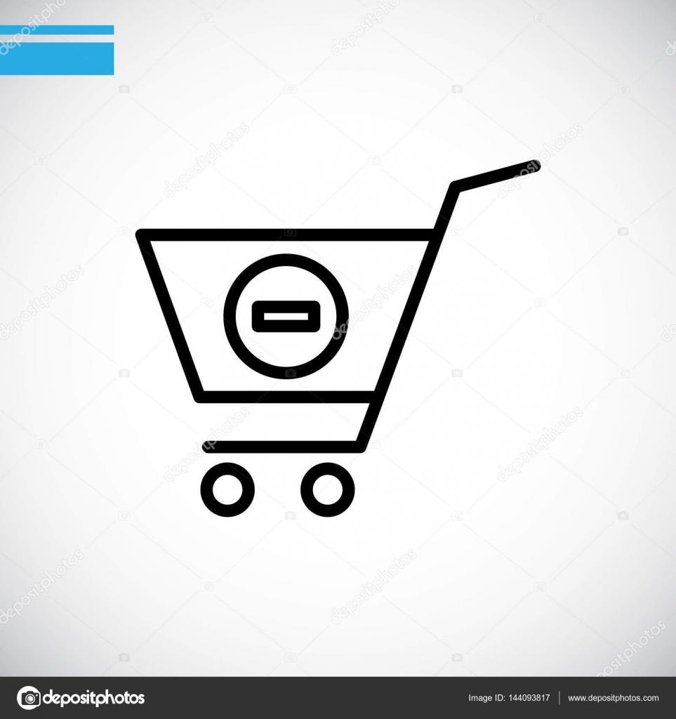 矢量图的购物车图标– 图库插图