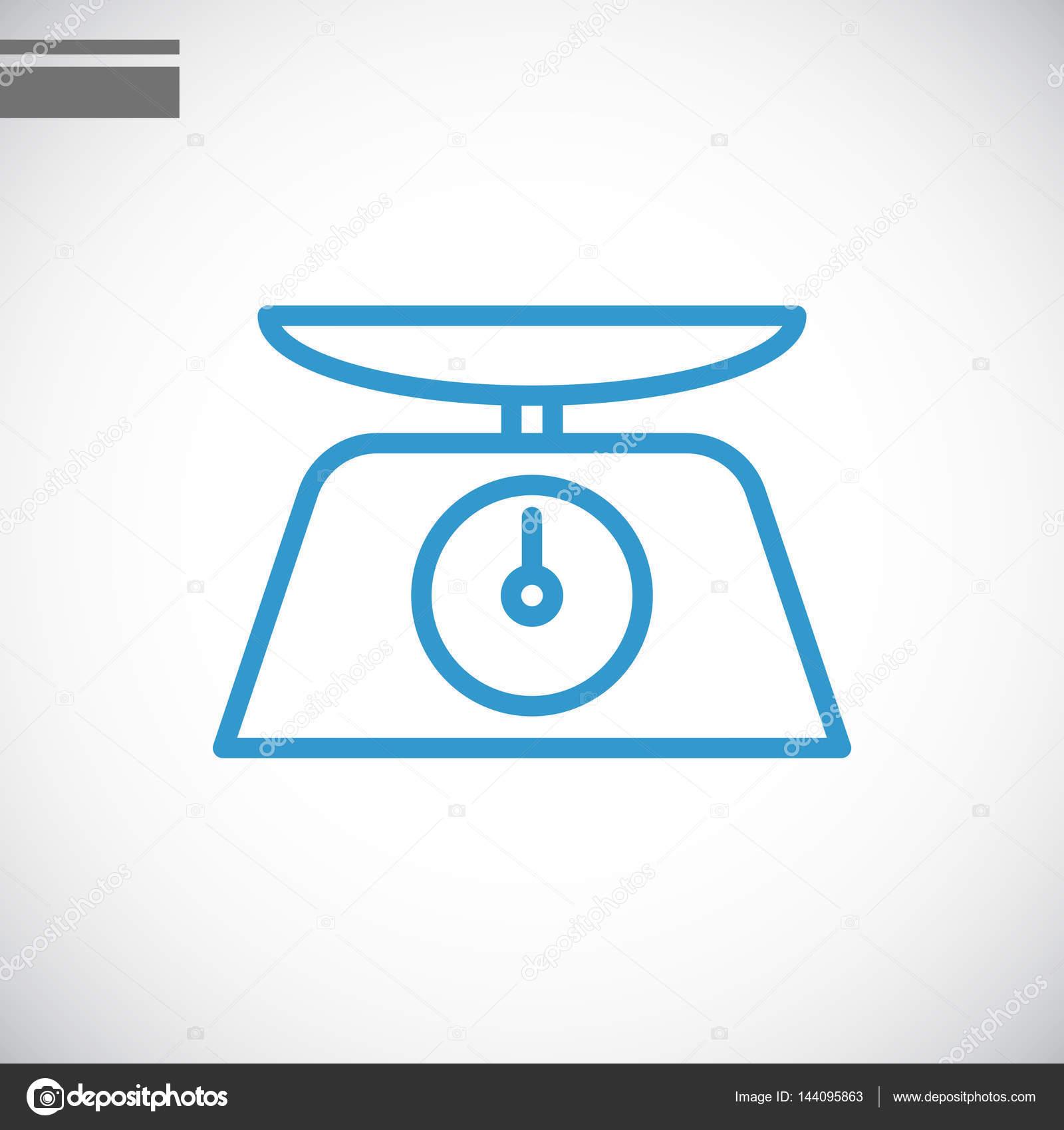 体重秤简单图标,矢量图– 图库插图