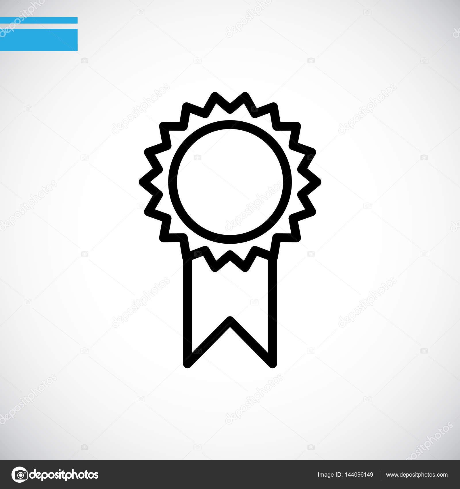 矢量图的图标奖金牌– 图库插图