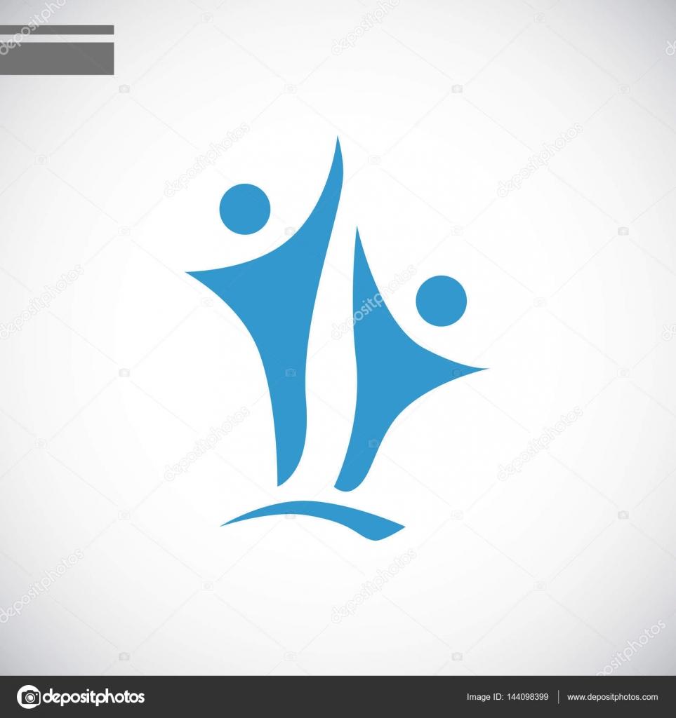 矢量图的社区团结图标– 图库插图