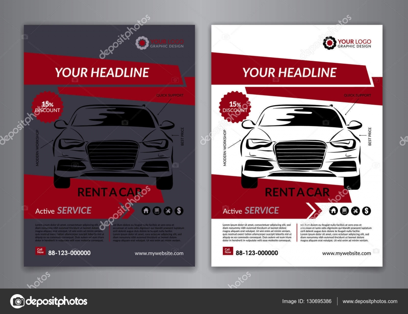set a a rent a car business flyer template auto service set a5 a4 rent a car business flyer template auto service brochure templates