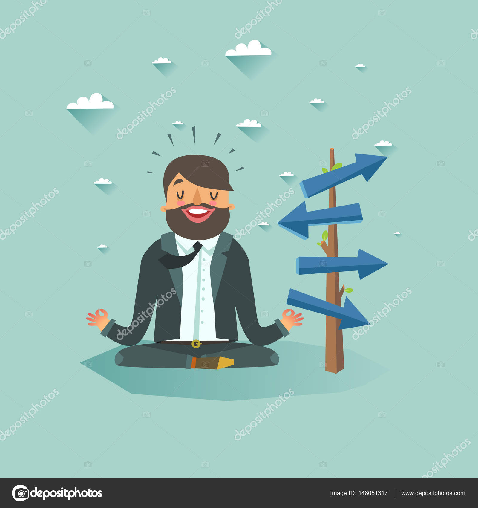 Business guru vector