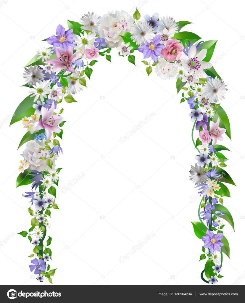 Wedding Arch Flowers Vector Stock Vector C 4airaukr 130564234
