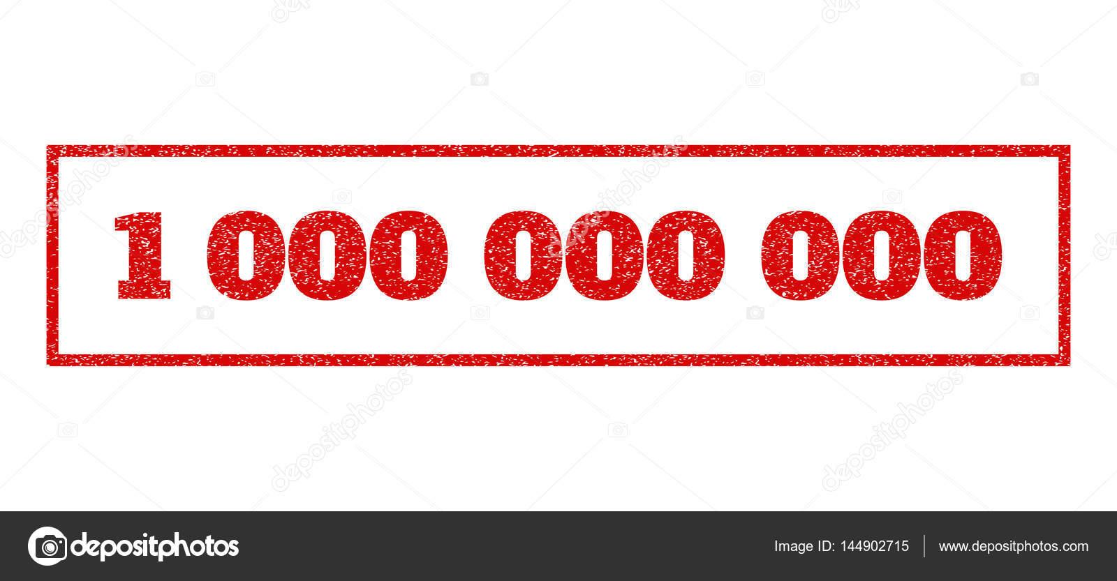 红色的橡皮印章加盖 1 000 文本.矢量标记内矩形横幅.