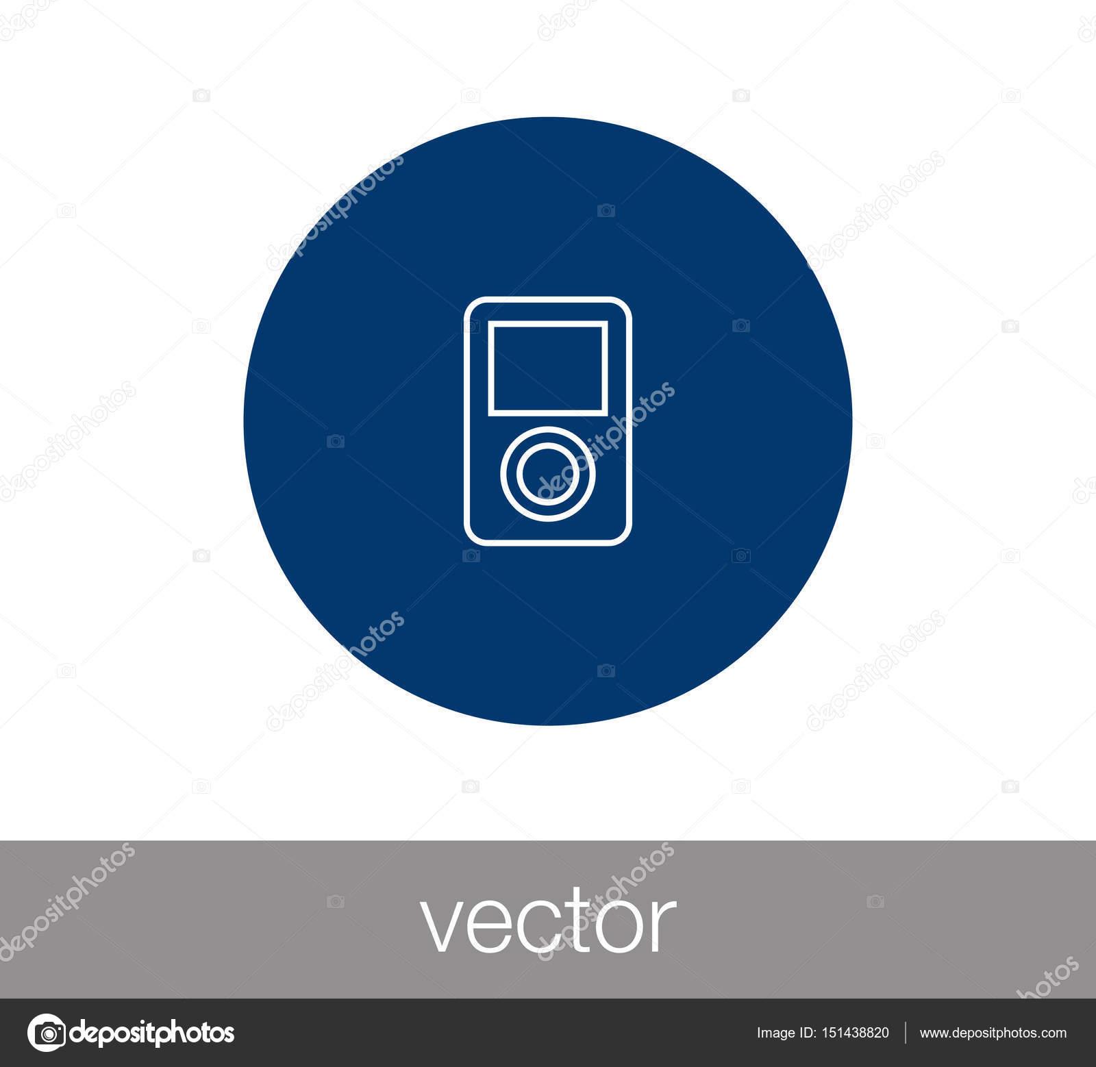 矢量图的 mp 3 播放器的图标— vector by signsandsymbols@email.com