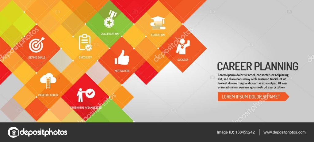 career planning banner stock vector © garagestock 138455242 career planning banner stock illustration
