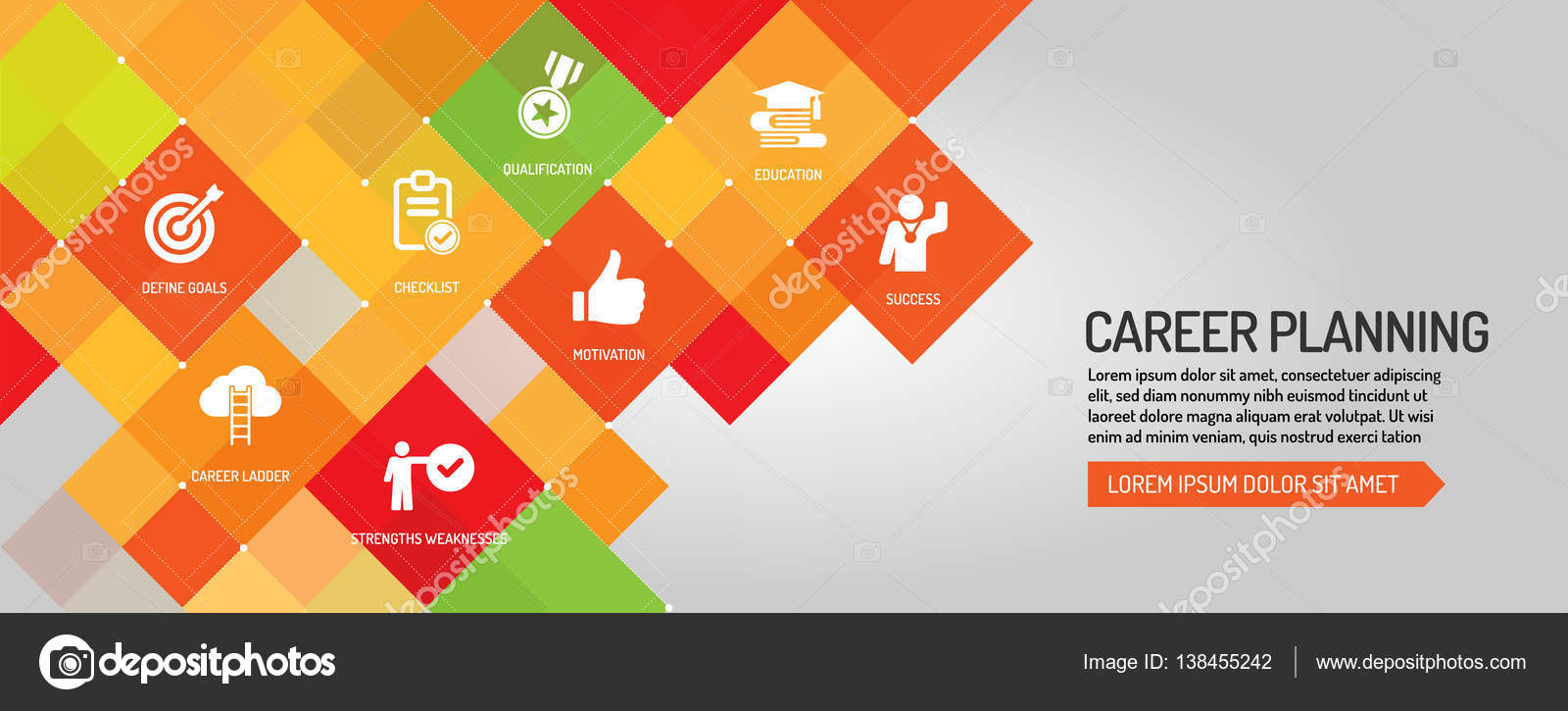 career planning banner stock vector copy garagestock  career planning banner stock illustration