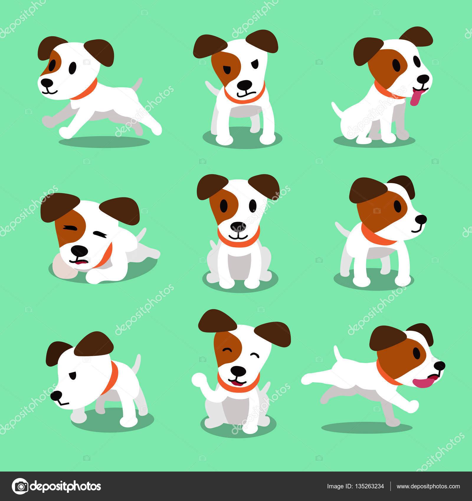 Personaje de dibujos animados jack russell terrier perro