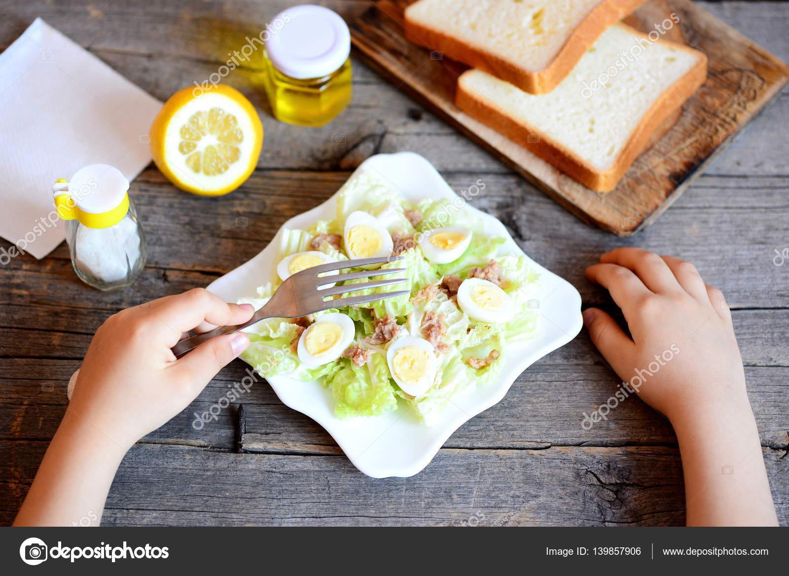 рецепт салат с капустой для ребенка