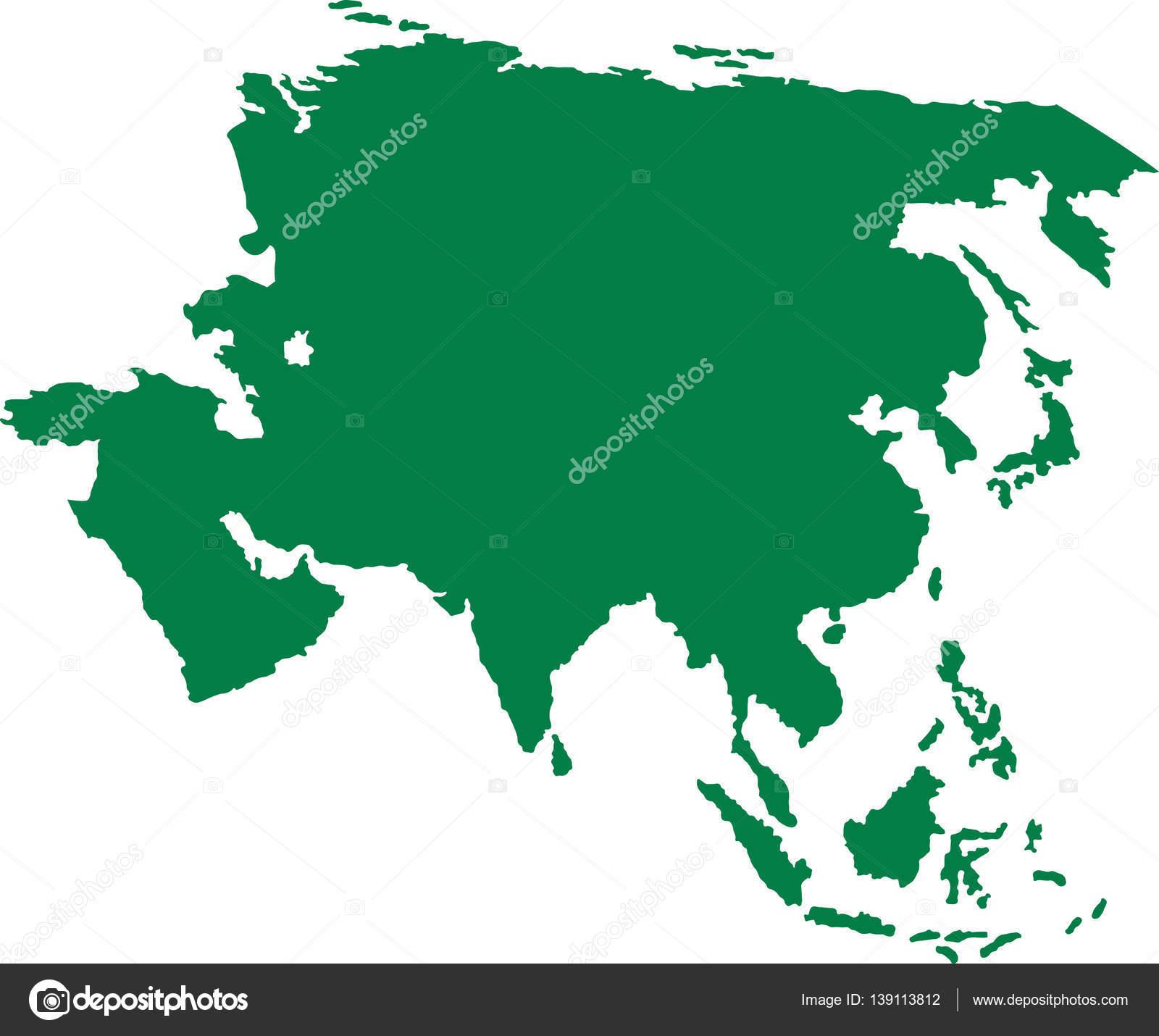 亚洲地图大陆地图– 图库插图