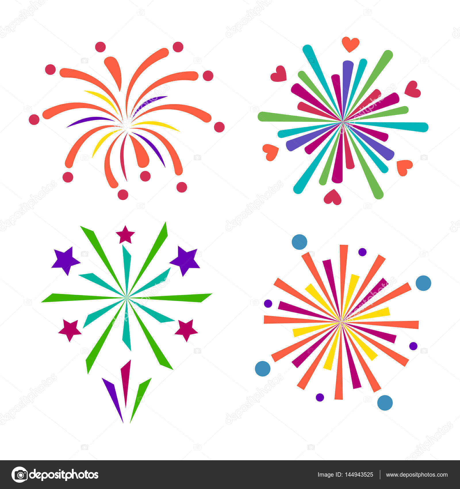 Firework vector icon isolated illustration celebration holiday ...