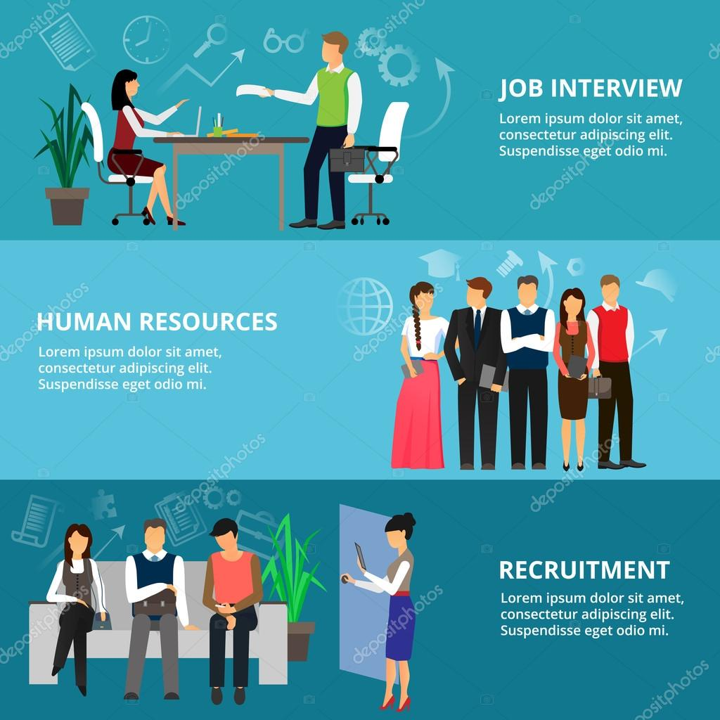 concepts of job interview human resources and recruitment stock concepts of job interview human resources and recruitment stock illustration