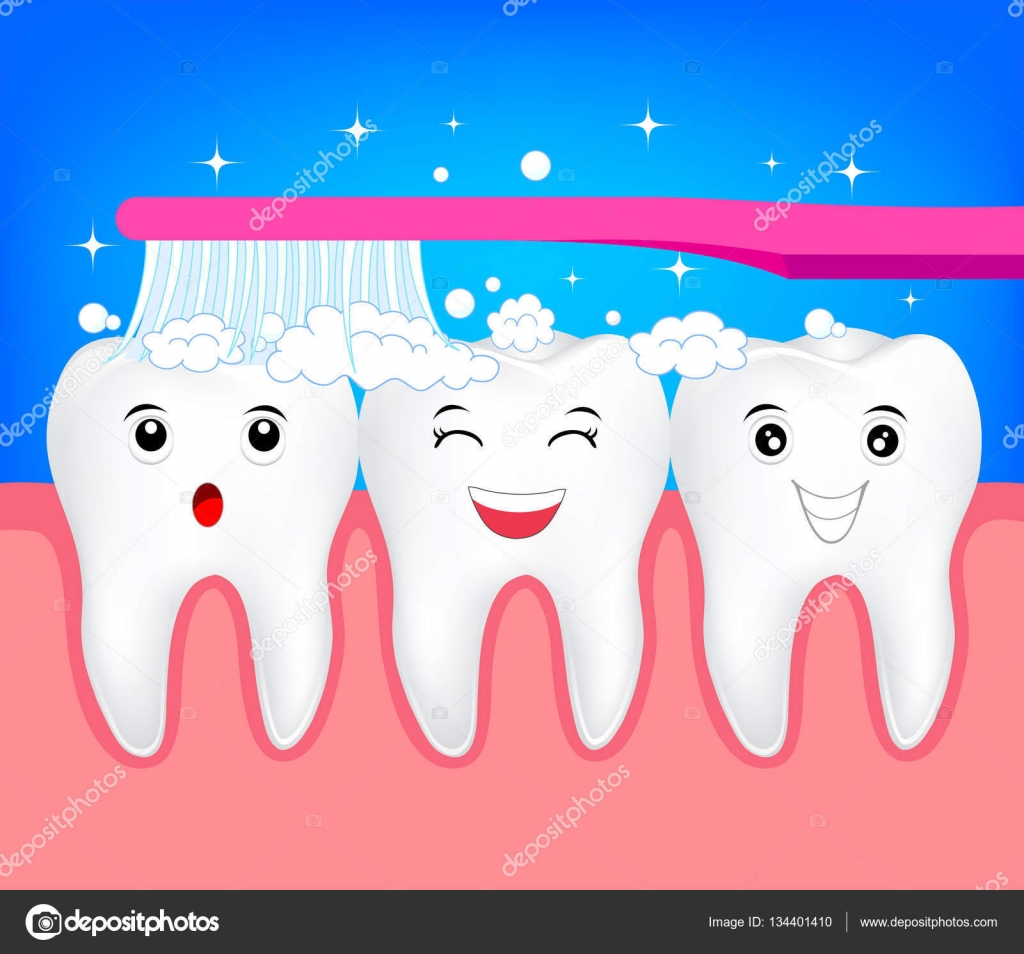 Cute Short SadHappy Teeth  KindergartenDental Health