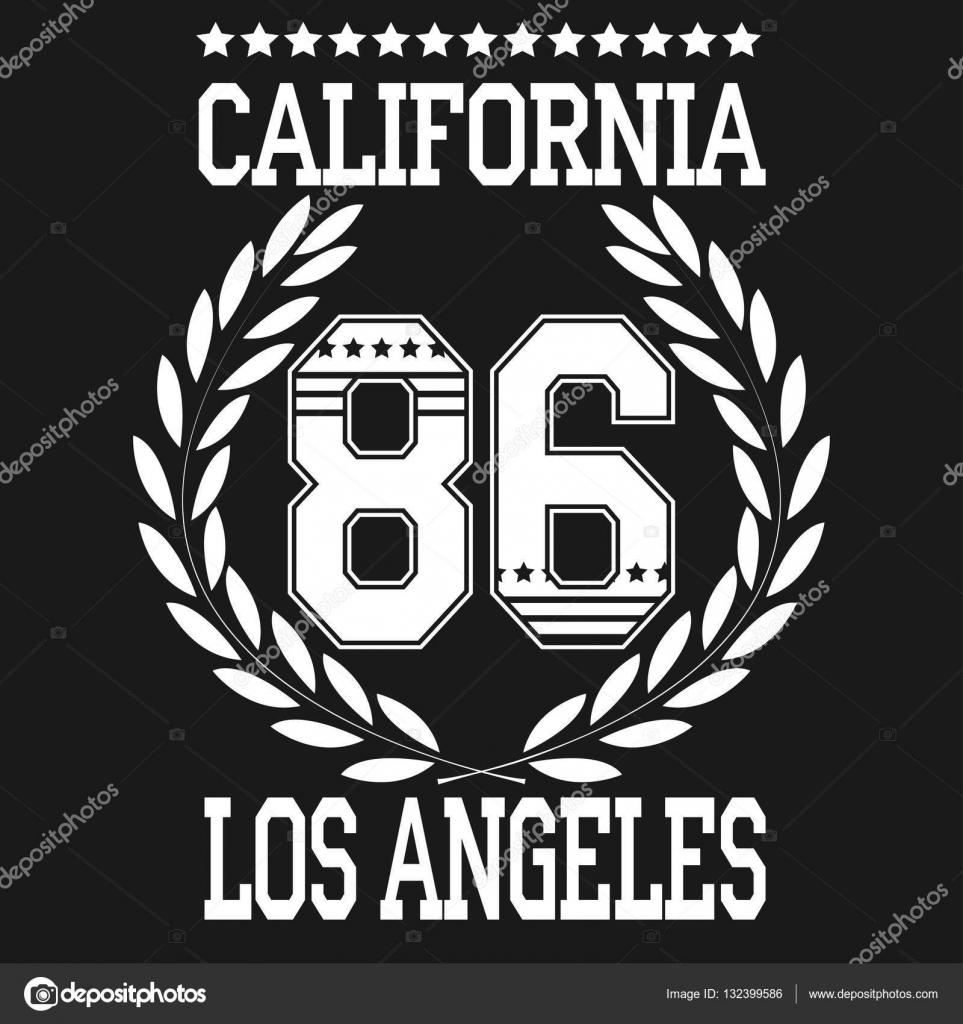 Shirt design los angeles - Los Angeles Sport T Shirt Design Stock Vector 132399586