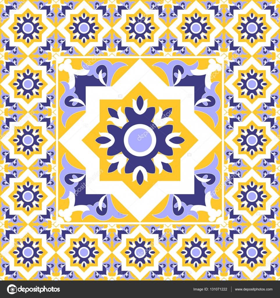 Azulejos vector patr n vintage con cemento cer mica for Azulejos de mexico