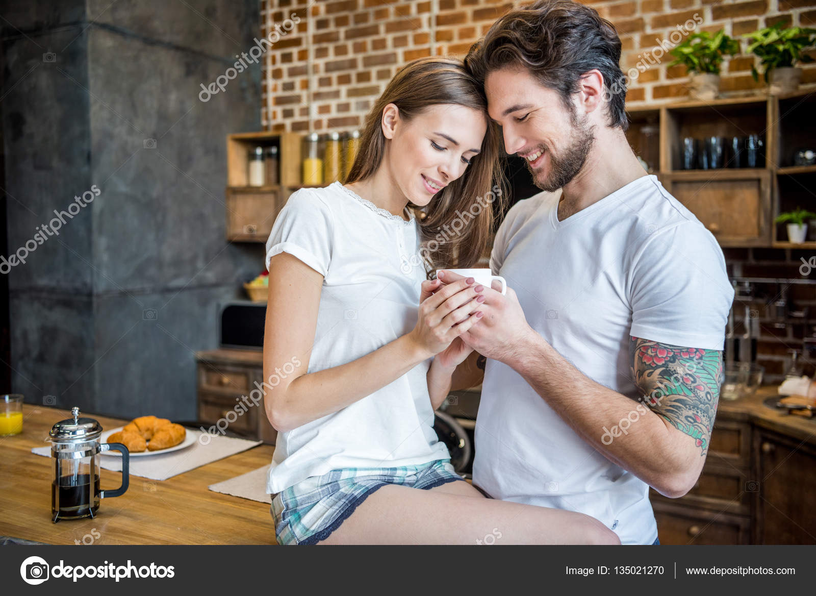 Couple Coffee Cup Cafe