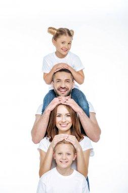 Happy family having fun