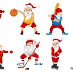 Постер, плакат: Vector set for christmas with Santa Claus