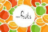 Background of juicy apples and oranges for a delicious lunch