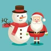 Santa claus christmas character vector illustration design