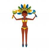 Schönen Karneval Tänzerin Charakter