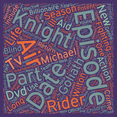 Knight Rider Season DVD Review text background wordcloud concept