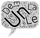 Le reve text background wordcloud concept