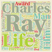 Ray DVD Review text background wordcloud concept