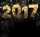 2017 novoroční zlaté pozadí