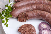 Blood pudding sausage