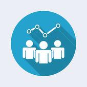 Elemzési szolgáltatások lapos ikon