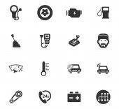 Auto servis ikony set