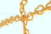 3D vykreslování řetízky zlaté srdce