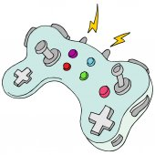 An image of a modern game controller