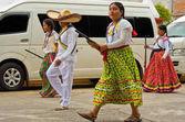 Děti v průvodu den revoluce Mexico