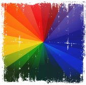 Grunge Rainbow Burst Background
