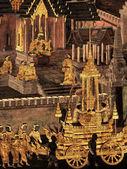 Ramayana nástěnné malby, vnější stěny Bangkog palác krále Thajska