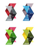 Set of color abstract arrow option infographic templates Vector backgrounds for workflow layout diagram number options or web design